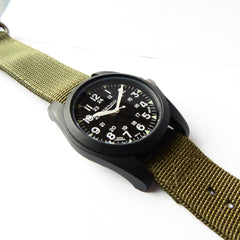 Bertucci A-3P Sportsman Vintage Field Watch - Black Dial 13351 - Watchfinder General - UK suppliers of Russian Vostok Parnis Watches MWC G10  - 2