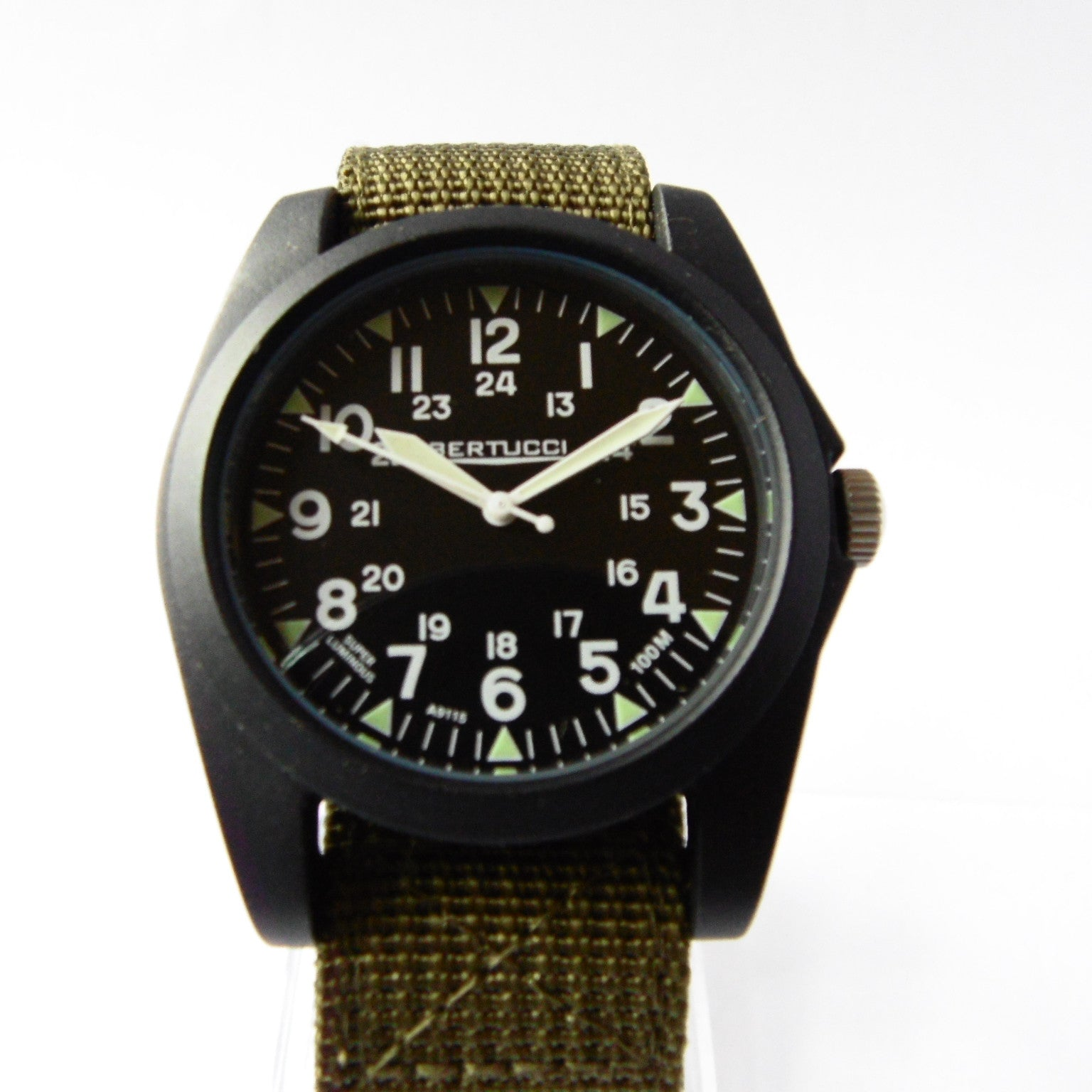 Bertucci A-3P Sportsman Vintage Field Watch - Black Dial 13351 - Watchfinder General - UK suppliers of Russian Vostok Parnis Watches MWC G10  - 3