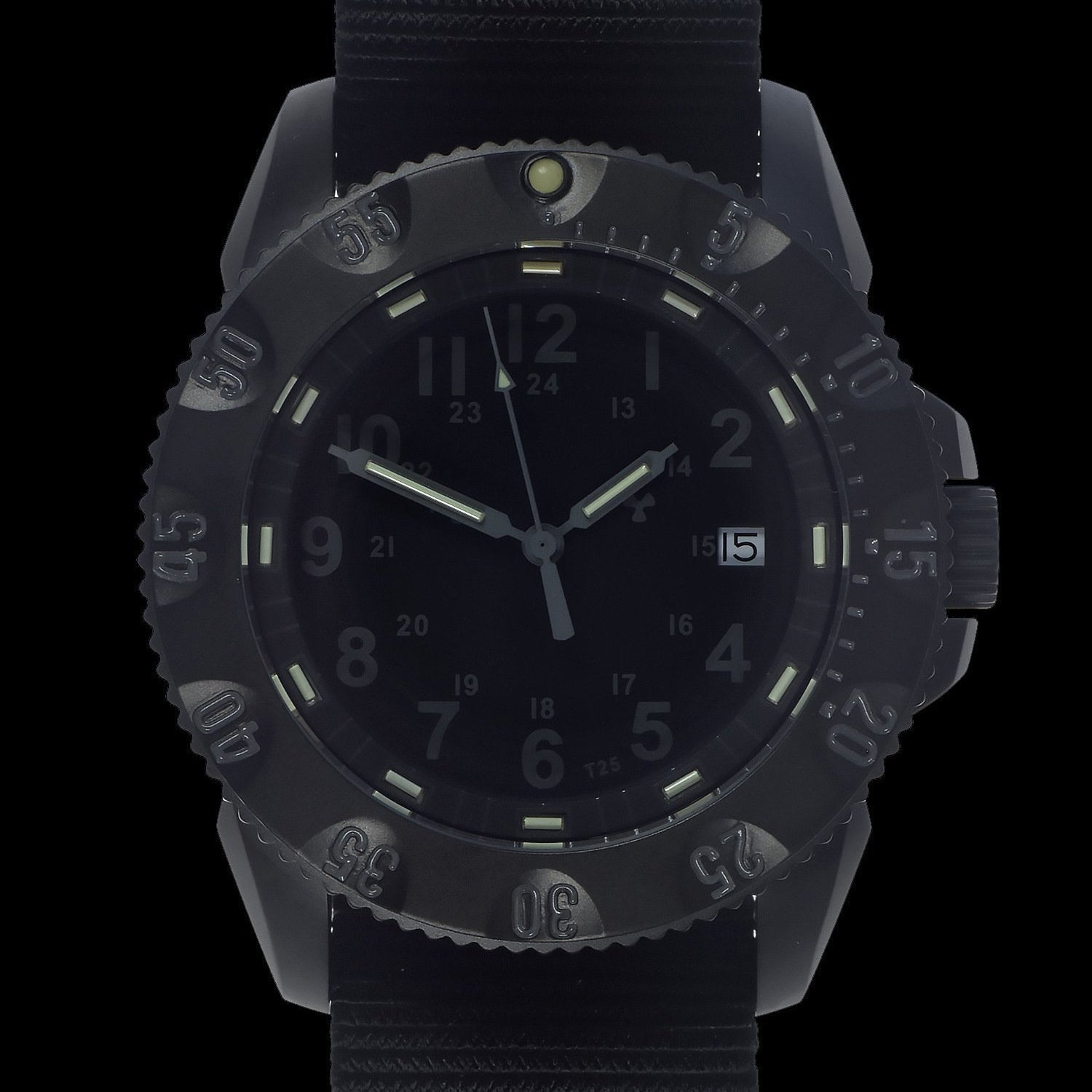 MWC P656 Tactical Series Watch with Subdued Dial, GTLS Tritium Quartz (Date Version)