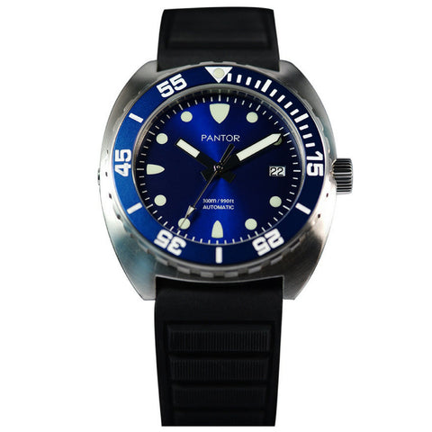 Pantor Sea Lion Automatic Divers Watch Blue 300M