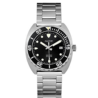 Pantor Sea Lion Automatic Divers Watch Black 300M Stainless Steel