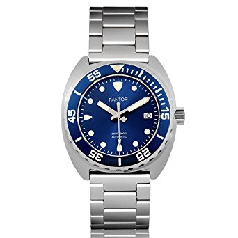 Pantor Sea Lion Automatic Divers Watch Blue 300M Stainless Steel