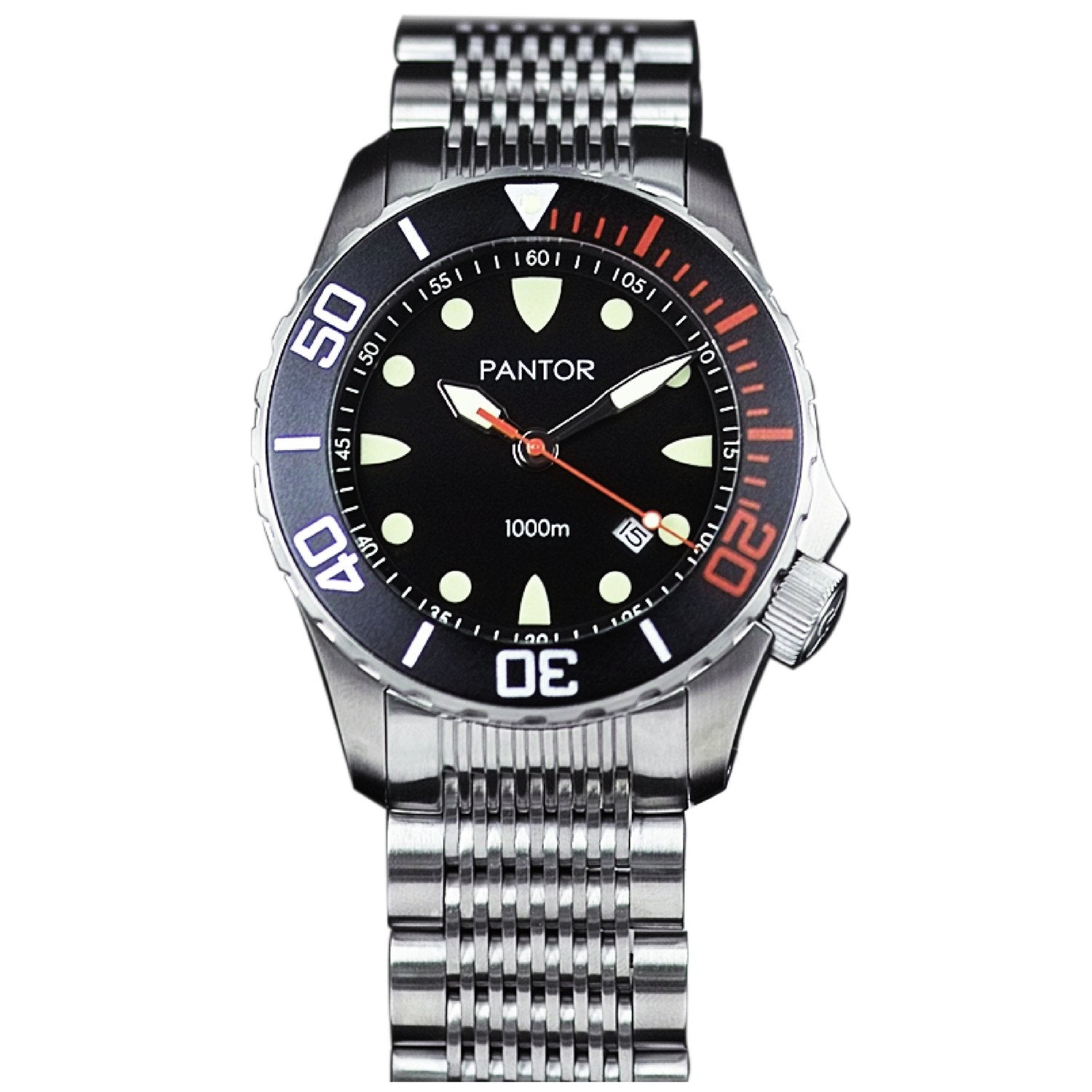 Pantor Seahorse Black Bezel Automatic Divers Watch 1000M