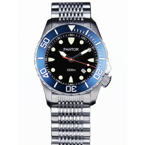 Pantor Seahorse Blue Bezel Automatic Divers Watch 1000M