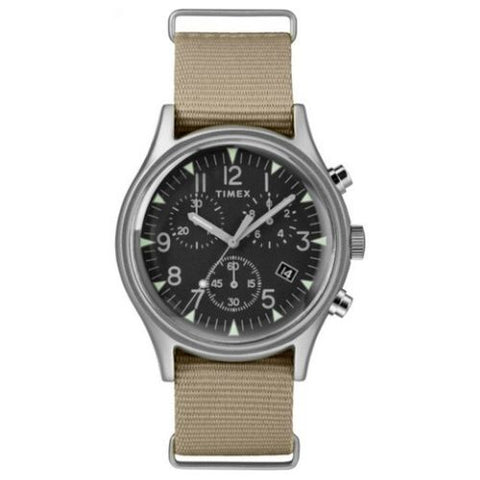 Timex MKI Aluminium Chronograph Watch with Nylon Strap - TW2T10700