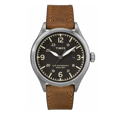 Timex Mens Analogue Classic Quartz Watch with Leather Strap - TW2R71200