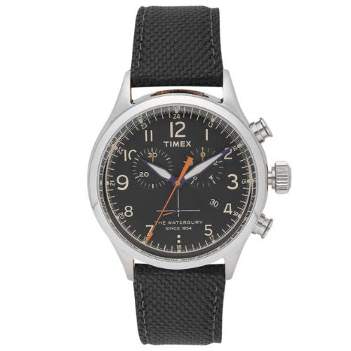 Timex Waterbury Traditional Chronograph Quartz Watch with Leather Strap - TW2R38200
