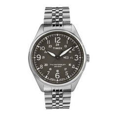 Timex Waterbury Traditional Day Date Stainless Steel Bracelet Watch - TW2R89300D7PF
