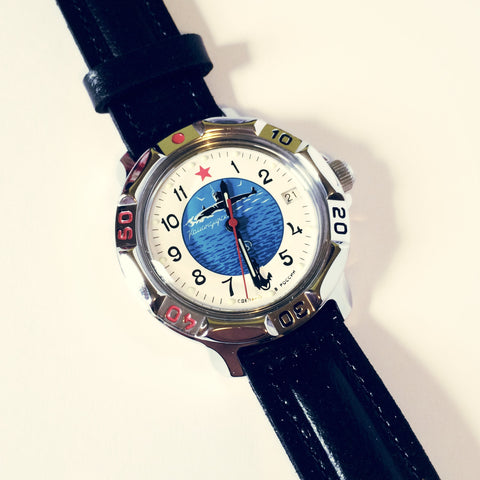 Vostok Komandirskie Handwinding Watch #811055 - Watchfinder General - UK suppliers of Russian Vostok Parnis Watches MWC G10  - 1