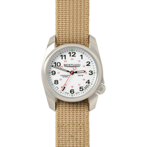 Bertucci A-1S Stainless Steel Field Watch (Khaki Strap) 10200