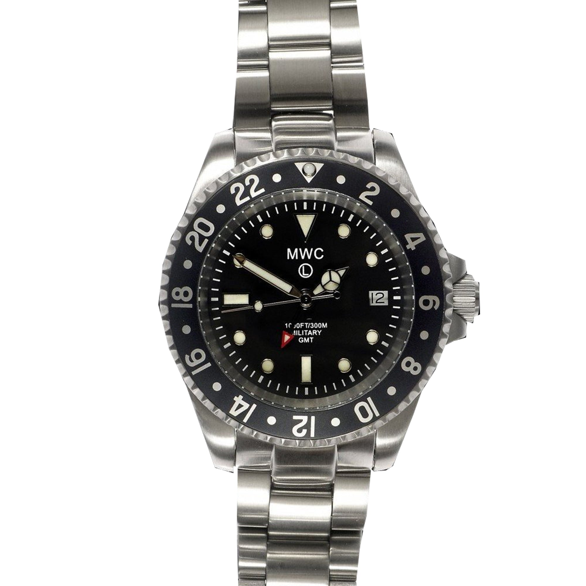 MWC GMT Dual Timezone Military Watch With SS Bracelet