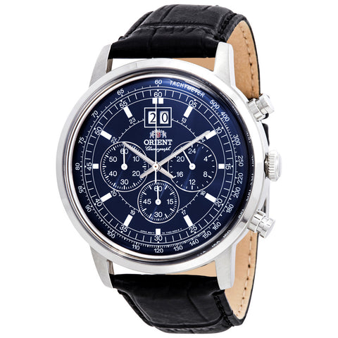 Orient Classic Blue Chronograph Quartz Watch - FTV02003D0
