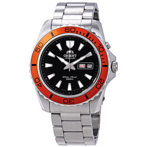 Orient Mako XL Orange Automatic Watch with Stainless-Steel Bracelet FEM75004B9