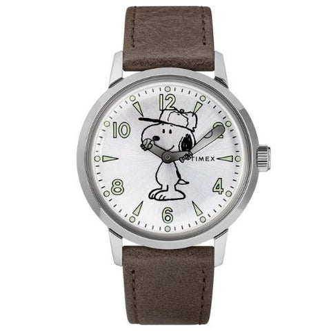 Welton Timex X Peanuts Featuring Snoopy Leather Watch - TW2R94900D7PF