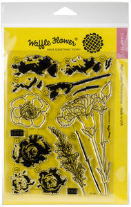 "Waffle Flower Crafts Clear Stamp 5""X7""-Carnations"