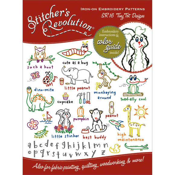 Stitcher's Revolution Iron-On Transfers-Tiny Tots Designs