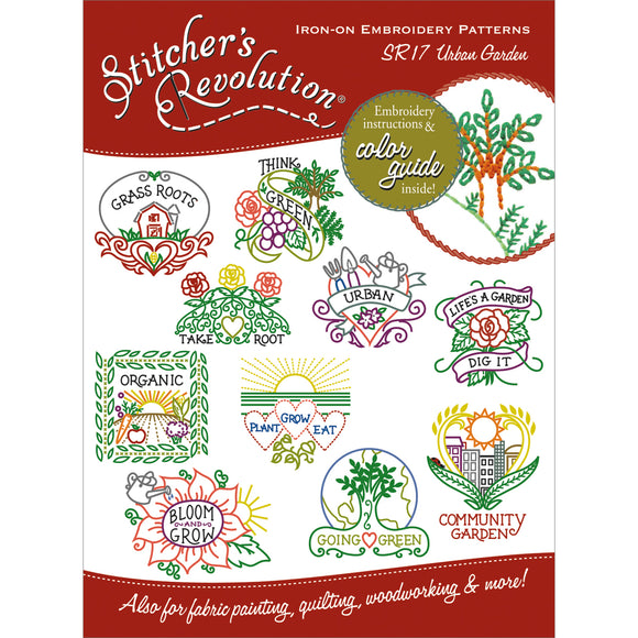 Stitcher's Revolution Iron-On Transfers-Urban Garden