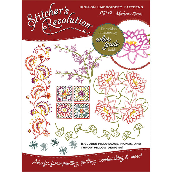 Stitcher's Revolution Iron-On Transfers-Modern Linens