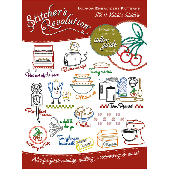 Stitcher's Revolution Iron-On Transfers-Kitchen Inspirations