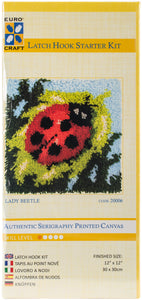 "Lady Beetle Euro Craft Latch Hook Kit 12""X12"""