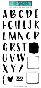 "Concord & 9th Clear Stamps 4""X8""-Bold & Brushy Uppercase"