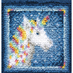 "Unicorn Wonderart Latch Hook Kit 12""X12"""