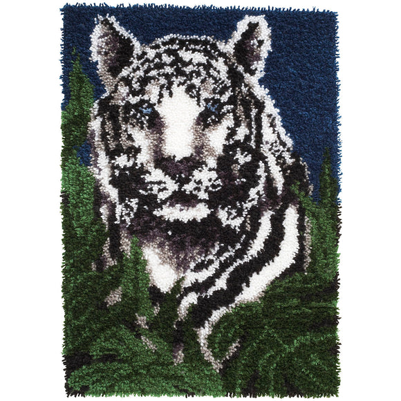 White Tiger Wonderart Latch Hook Kit 24