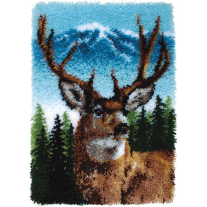 "Deer Wonderart Classic Latch Hook Kit 20""X30"""