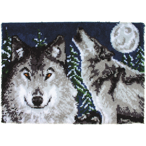 Midnight Wolves Wonderart Latch Hook Kit 27