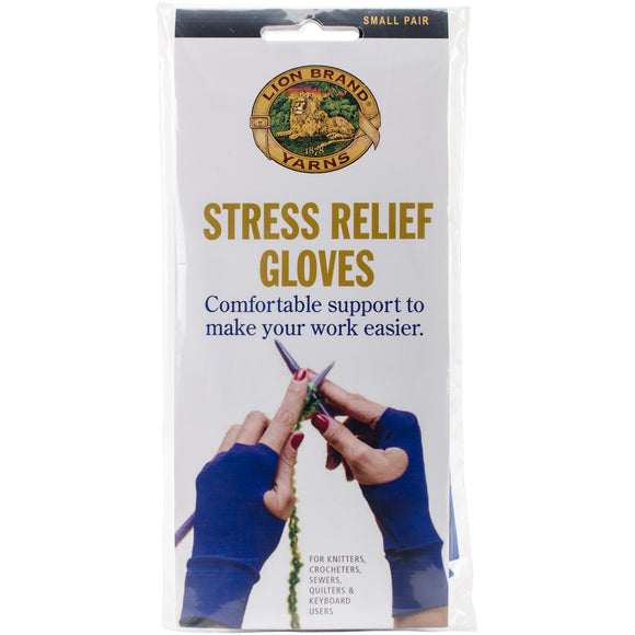 Lion Brand Stress Relief Gloves 1 Pair-Small