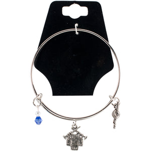 "Charming Accents Adjustable Charm Bangle 7.5""-Sweater"