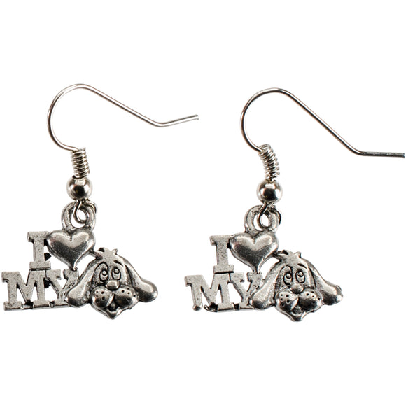 Charming Accents Wire Earrings-Love My Dog