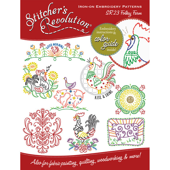 Stitcher's Revolution Iron-On Transfers-Folksy Farm