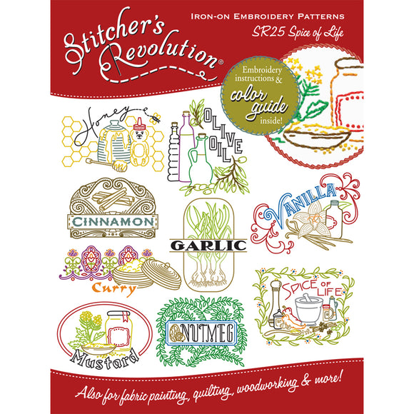 Stitcher's Revolution Iron-On Transfers-Spice Of Life