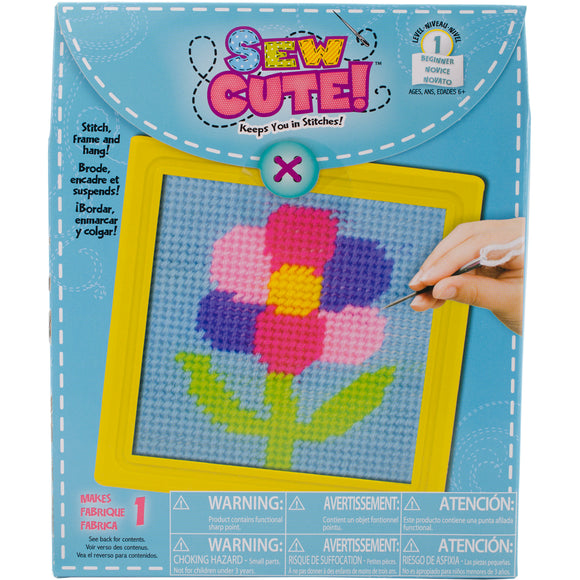 Sew Cute! Flower Needlepoint Kit-6