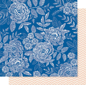 "Maggie Holmes Willow Lane Double-Sided Cardstock 12""X12""-Sweet Rose"