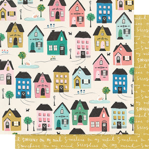 "Maggie Holmes Willow Lane Double-Sided Cardstock 12""X12""-Cottage"