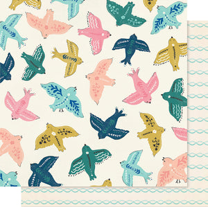 "Maggie Holmes Willow Lane Double-Sided Cardstock 12""X12""-Sparrow"