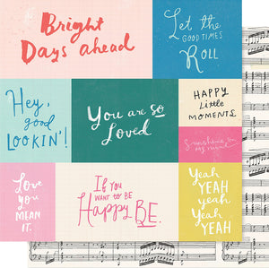 "Maggie Holmes Willow Lane Double-Sided Cardstock 12""X12""-Melody"