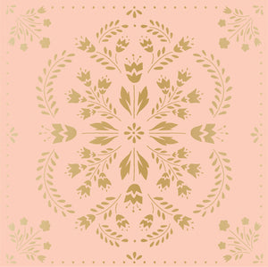 "Maggie Holmes Willow Lane Double-Sided Cardstock 12""X12""-Delicate W/Gold Foil Accents"
