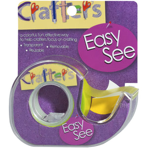 "Crafter's Easy See Removable Craft Tape .5""X720""-Yellow"
