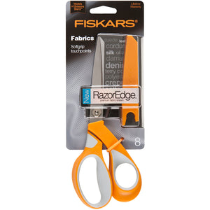 "Fiskars RazorEdge Softgrip Fabric Scissors 8""-"