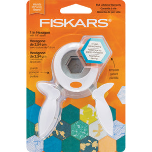 "Fiskars Squeeze Punch And Acrylic Template-1"" Hexagon"