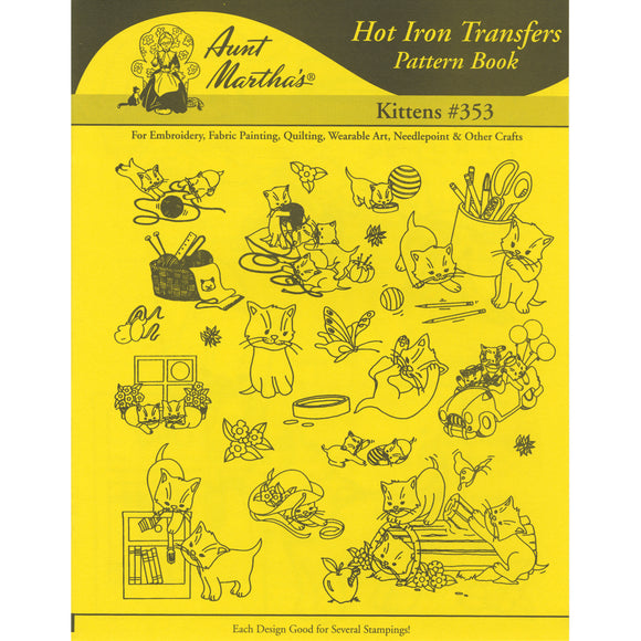 Aunt Martha's Iron-On Transfer Book-Kittens