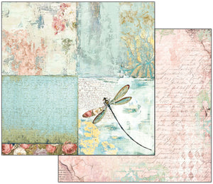 "Stamperia Double-Sided Cardstock 12""X12""-Wonderland Dragonfly"