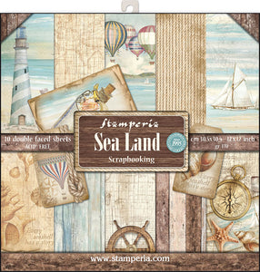 "Stamperia Double-Sided Paper Pad 12""X12"" 10/Pkg-Sea Land"