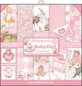 "Stamperia Double-Sided Paper Pad 12""X12"" 10/Pkg-Baby Girl"