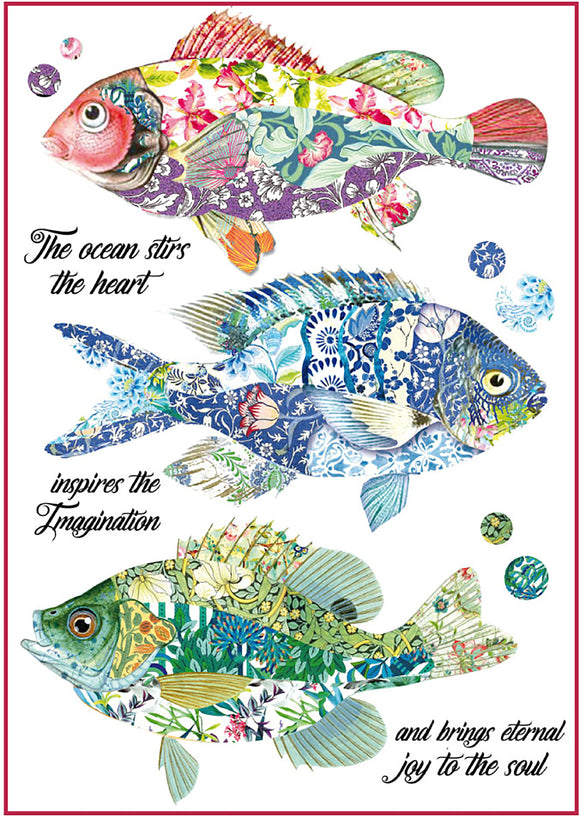Stamperia Rice Paper Pack A4-Fantasy Fish