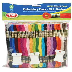 Embroidery Floss Super Giant Pack 8.7yd 150/Pkg-Assorted Colors