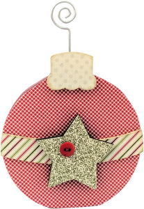 "Interchangeable ""O"" Wood Shape-December - Ornament, 4.5""X7"""